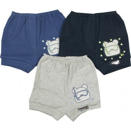 SHORTS ESTAMPA URSO MERGULHADOR