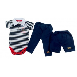 CONJ.1 BODY M/C POLO BORD.GOLF+ 1 SHORTS BORD.+ 1 CALÇA BORD.(O)